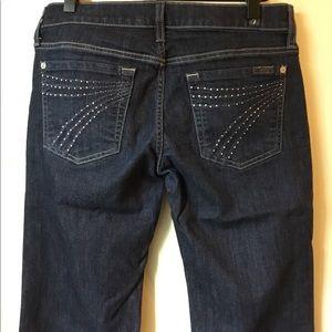 7 for All Mankind Dojo Flare embellished pockets